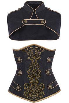 Check out this item on The Violet Vixen Royal Guard Black Corset #thevioletvixen