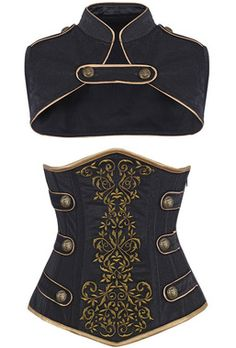 Check out this item on The Violet Vixen Royal Guard Black Corset #thevioletvixen