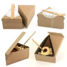 Send your guests home with a slice of cake! Great for wedding favours, kids birthday parties and big kids parties too! 8 boxes make a circle L 135mm x W 100mm x