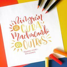 """Ninguém se cura machucando os outros""  @palavras_ocultas  #frases #trechos #quotes #parceria . . . #caligrafia #calligraphy #feitoamao #TYxCA #freehand #handmade #moderncalligraphy #typespire #handlettering #lettering #typography #typostrate #design #art #style #goodtype #customtype #inspiration #typism #instadaily #instalike #instagood #poster #brushpen #brushlettering #motivation"
