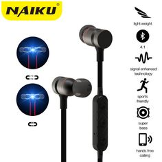 New Bluetooth Headphones Wireless In-Ear Noise Reduction earphone with Microphone Sweatproof Stereo Bluetooth Headset for xiaomi #Affiliate