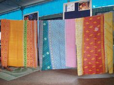 Christine's Travel Adventures: Beautiful Sari Quilts From India