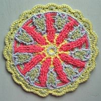 Crochet Mandala Wheel made by  Jacqueline, Netherlands,  for yarndale.co.uk