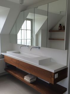 Portfolio van ons interieurprojecten en realisaties // Artur Interieur Bathroom Lighting, Mirror, Interior, Furniture, Home Decor, Apartment Bathroom Design, Future House, Shower, Full Bath