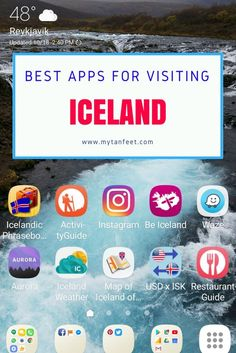 Best apps for traveling in Iceland https://mytanfeet.com/iceland/best-iceland-apps/