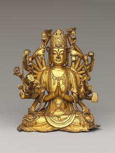 Bodhisattva Avalokiteshvara with One Thousand Hands and One Thousand Eyes (Qianshou Qianyan Guanyin), 11th-12th century, China