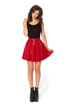 PVC Red Skater Skirt - LIMITED  Size M PC