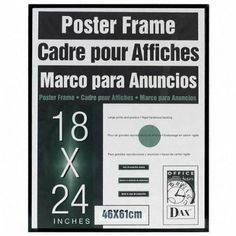 amazoncom dax n16018bt coloredge poster frame with plexiglas window 18 x 24