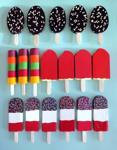 Ice lollies made of paper by the very creative Hattie Newman