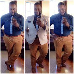 Dicas reais de estilo para homens gordinhos! Moda Masculina / Blog Bugre Moda / Imagem: @thebigfashionguy