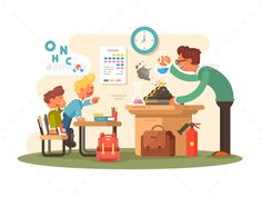 Buy Chemistry Lesson in Classroom by on GraphicRiver. Chemistry lesson in classroom. Tteacher shows pupils experience. Classroom Layout, Classroom Setting, Classroom Design, Classroom Themes, Classroom Organization, Classroom Management, High School Classroom, Special Education Classroom, Preschool Classroom