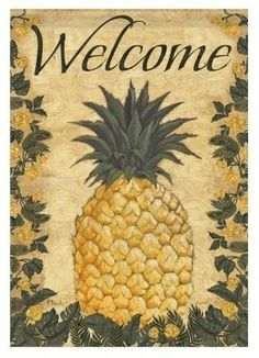 Carson 13 x 18 Floral Pineapple Garden Flag modern patio furniture and outdoor furniture