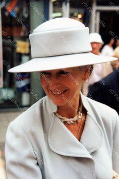 """July 1995 HRH Princess Alexandra on her visit to Liverpool. History Of Photography, Love Photography, Princess Alexandra, Leeds, Liverpool, Panama Hat, Fashion, Moda, Fashion Styles"