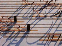 Image 17 of 20 from gallery of Jewish Deportation Memorial / Studio Kuadra. Photograph by Studio Kuadra Brick Architecture, Landscape Architecture, Landscape Design, Wayfinding Signage, Signage Design, Environmental Graphics, Environmental Design, Urban Ideas, Brand Advertising