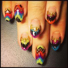 Missoni Ikat #nail #nails #nailart