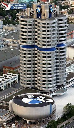 BMW Museum, Munich, Germany. A cool museum and a totally cool building. I loved it!