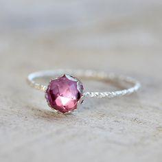 Sapphire gemstone ring pink gemstone ring - praxis jewelry