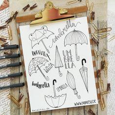 dot day art projects Regenschirm Doodles - Skizze Regenschirm - How to draw an umbrella - Malvorlage - Sketchnotes - Bullet Journal April Bullet Journal, Bullet Journal Ideas Pages, Bullet Journal Layout, Bullet Journal Inspiration, Banner Drawing, Filofax, Bullet Journel, Sketch Notes, Art Drawings