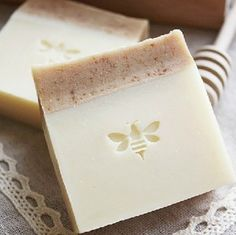 Love the simple creamy colors and the stamp.  Two toned soaps definitely appeal to me.