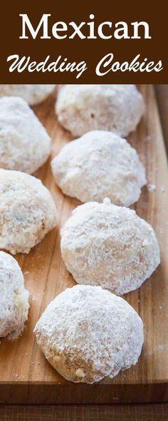 Mexican Wedding Cookies | Mexican wedding cookies, Pecan sandies and ...