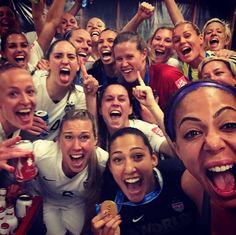 Celebrating a world championship. (Instagram)