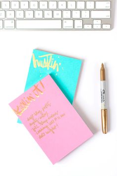 b is for bonnie loves The Social Type | sassy holographic foil notepads via The Social Type