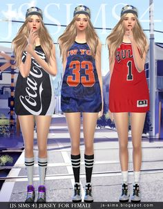 [JS SIMS 3&4] Jersey For Female | JS SIMS