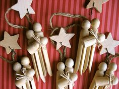 Set of 3 Clothespin Nativity Ornaments by sweetmellyjane on Etsy