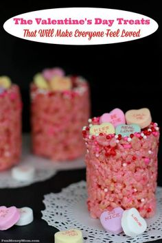 Want to show your love with some delicious Valentine's Day treats? These sweet, edible cups filled with conversation hearts will do the trick!