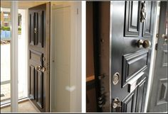 Our door uses a unique registered key locking system in which 22 hard-steel bolts around the edges of the steel door simultaneously engage into the solid steel door-frame.
