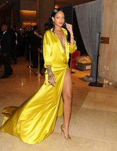 Rihanna during the 56th annual Grammy Awards Pre-Grammy Gala. The singer picked up a win for 'Unapologetic,' but apparently  wasn't at the show.