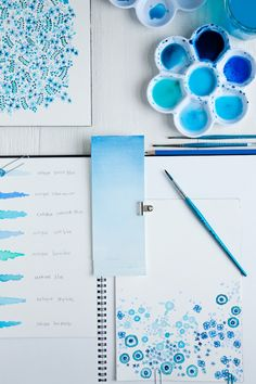 look at watercolor dipped doilies for wrapping, etc. Color Me Pretty: Ocean Hues