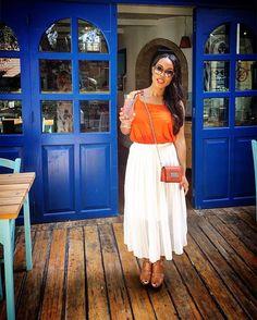 Loving my @everything5pounds Orange Cami Top! #mye5P  #style #fashionblogger #UK…