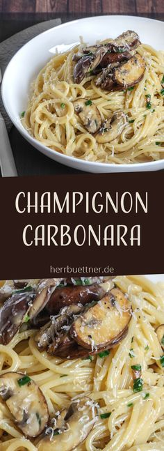 - Foooooood :D - Vegetarische Carbonara mit Champignons und Schnittlauch. Informations About Champignon Carbonara … - Easy Dinner Recipes, Pasta Recipes, New Recipes, Vegetarian Recipes, Easy Meals, Cooking Recipes, Healthy Recipes, Lunch Recipes, Summer Recipes