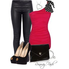 Elizabeth and James leggings, Giuseppe Zanotti pumps and Floozie by Frost French clutches