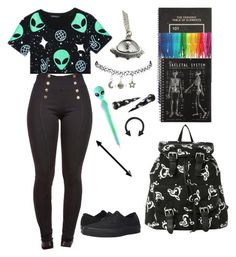 """Goin back to school soon"" by cherry-demon on Polyvore featuring Bomedo, WithChic, Hot Topic, Wet Seal and Vans"