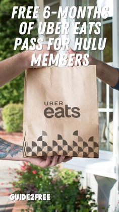 Hulu and Uber Eats Announce Partnership to Give Eligible Hulu Subscribers Six Months of Complimentary Uber Eats Pass! Eats Pass is a monthly subscription that offers unlimited $0 Delivery Fee on orders over $15 and 5% off eligible orders (including food & grocery). Free Samples, Uber, Monthly Subscription, Delivery, Food, Essen, Meals, Yemek, Eten