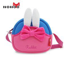 Us 15 47 10 Off Nohoo Toddler Crossbody Bag 3d Rabbit Cute Shoulder Messenger Bags For S Waterproof Cartoon Handbag Circle Shape Small In