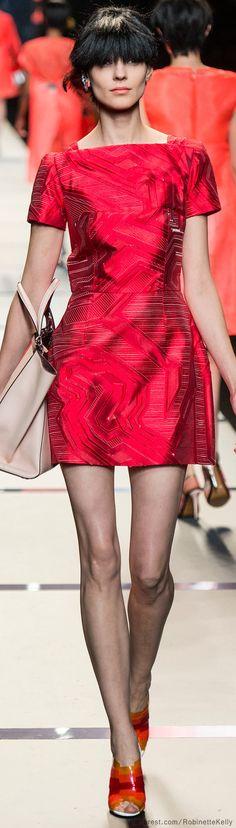 Fendi | S/S 2014#aiowedding - http://www.aiowedding.com/wedding-dresses/george-bride-charmig-lace-over-satin-with-beaded-waist