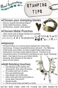 I WANT TO DO THIS  Metal Stamping Tips : Bead Inspirations!, Rediscover Your Natural Creativity! - Click for More...