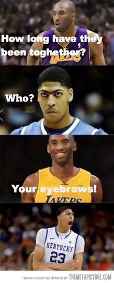 funny basketball players NBA eyebrows