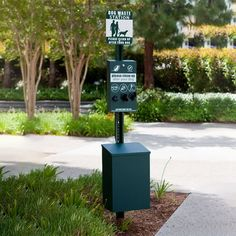 Product Info & How-To Tips: Item Lead Time: days Promote responsible pet ownership and help keep your community clean with our handy waste pick up stations! Complete Dog Waste Station Includes: Dispenser, post, sign, 400 roll bags, waste re Dog Wash, Waste Disposal, Lap Dogs, Parking Design, Dry Dog Food, Dog Supplies, Dog Life, Pets, Park Equipment