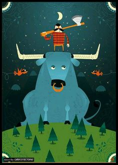 Paul and Babe the Blue Ox - MTG - Sleeves