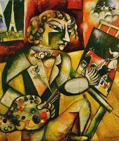 Marc Chagall - Autorretrato con siete dedos.