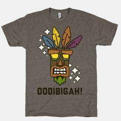 Crash Bandicoot Aku-Aku Mask | HUMAN | T-Shirts, Tanks, Sweatshirts and Hoodies