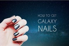 do it yourself nail design galaxy universe nails