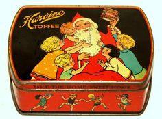 Beautiful English Harry Vincent Harvino toffees Christmas tin. Condition is very good, minor wear as can be seen on the pictures. Dates from the 1920s. | eBay!