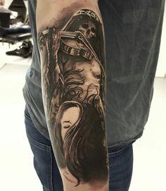 Deathly violin tattoo tampere Below Zero Tattoo