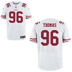 d2f99b640ee ... Mens 2017 NFL Draft San Francisco 49ers 96 Solomon Thomas White Road  Stitched NFL Nike ...