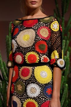 All Things Colourful  | Alice & Olivia Spring 2016 Up Close Details